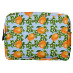 Citrus Tropical Orange Blue Make Up Pouch (medium) by snowwhitegirl