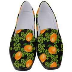 Citrus Tropical Orange Black Women s Classic Loafer Heels by snowwhitegirl