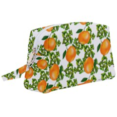 Citrus Tropical Orange White Wristlet Pouch Bag (large) by snowwhitegirl