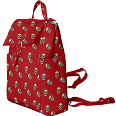 Skull Red Pattern Buckle Everyday Backpack