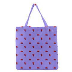 Candy Apple Lilac Pattern Grocery Tote Bag
