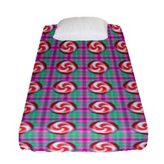 Peppermint Candy Pink Plaid Fitted Sheet (single Size)