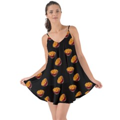 Kawaii Chips Black Love The Sun Cover Up