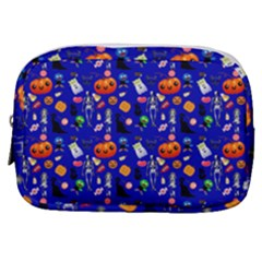 Halloween Treats Pattern Blue Make Up Pouch (small)