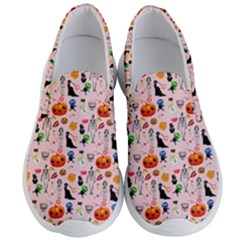 Halloween Treats Pattern Pink Men s Lightweight Slip Ons by snowwhitegirl