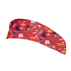 Halloween Treats Pattern Red Stretchable Headband