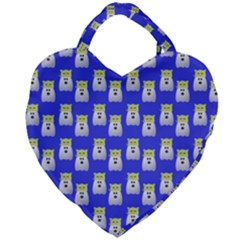 Ghost Pet Blue Giant Heart Shaped Tote