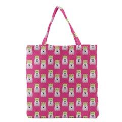 Ghost Pet Pink Grocery Tote Bag
