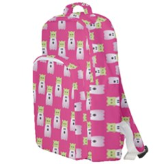 Ghost Pet Pink Double Compartment Backpack