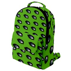 Eyes Green Flap Pocket Backpack (small)