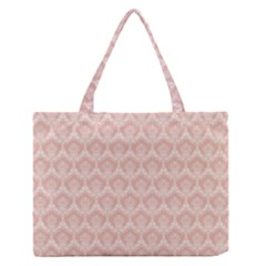 Damask Peach Zipper Medium Tote Bag by snowwhitegirl