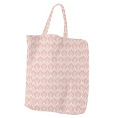 Damask Peach Giant Grocery Tote