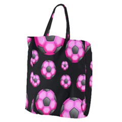 Wallpaper Ball Pattern Pink Giant Grocery Tote
