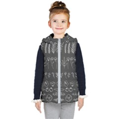 Graphic Background Sign Symbol Kids  Hooded Puffer Vest