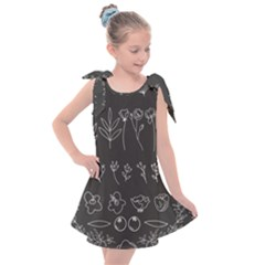 Graphic Background Sign Symbol Kids  Tie Up Tunic Dress
