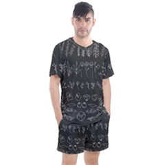Graphic Background Sign Symbol Men s Mesh Tee And Shorts Set
