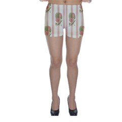 Lotus Flower Waterlily Wallpaper Skinny Shorts by Mariart