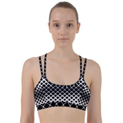 Square Rounded Diagonal Line Them Up Sports Bra