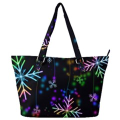 Snowflakes Full Print Shoulder Bag