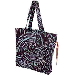 Stained Glass Drawstring Tote Bag