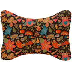 Red Khokhloma Pattern Seat Head Rest Cushion