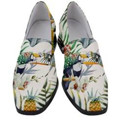 Tropical Birds Women s Chunky Heel Loafers by goljakoff