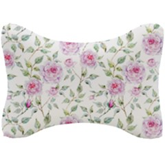 Pink Flowers Seat Head Rest Cushion