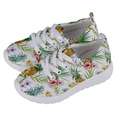 Tropical Pineapples Pattern Kids  Lightweight Sports Shoes by goljakoff