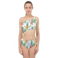 Tropical Pineapples Pattern Spliced Up Two Piece Swimsuit by goljakoff