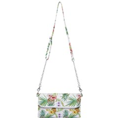Tropical Pineapples Pattern Mini Crossbody Handbag