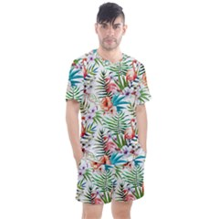 Tropical Flamingos Men s Mesh Tee And Shorts Set by goljakoff