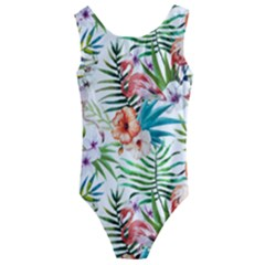 Tropical Flamingos Kids  Cut Out Back One Piece Swimsuit by goljakoff