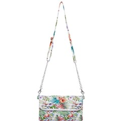 Tropical Flamingos Mini Crossbody Handbag