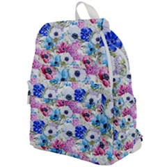 Blue And Purple Flowers Top Flap Backpack by goljakoff