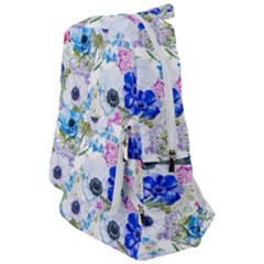 Blue And Purple Flowers Travelers  Backpack by goljakoff