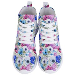 Blue And Purple Flowers Women s Lightweight High Top Sneakers by goljakoff