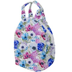 Blue And Purple Flowers Travel Backpacks by goljakoff