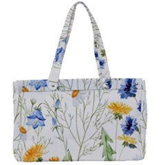 Blue And Yellow Flowers Canvas Work Bag by goljakoff