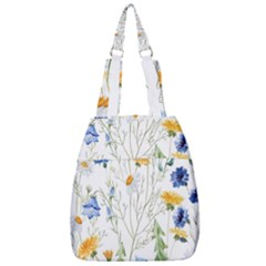 Blue And Yellow Flowers Center Zip Backpack