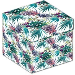 Monstera Flowers And Leaves Storage Stool 12   by goljakoff
