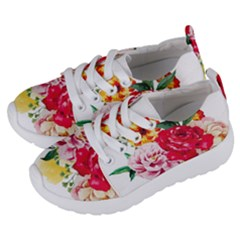 Watercolor Flowers Kids  Lightweight Sports Shoes by goljakoff