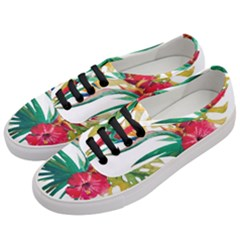 Watercolor Flowers Paint Women s Classic Low Top Sneakers by goljakoff