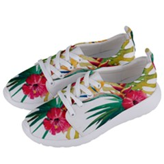 Watercolor Flowers Paint Women s Lightweight Sports Shoes by goljakoff
