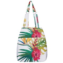 Watercolor Flowers Paint Center Zip Backpack
