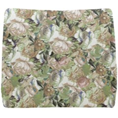 Romantic Beige Flowers Seat Cushion by retrotoomoderndesigns
