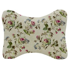 Vintage Roses Velour Seat Head Rest Cushion by retrotoomoderndesigns