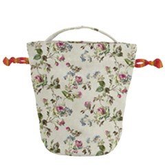 Vintage Roses Drawstring Bucket Bag