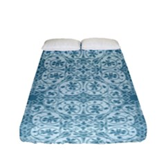 Ornamental Blue Fitted Sheet (full/ Double Size)