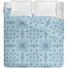 Ornamental Blue Duvet Cover Double Side (king Size)
