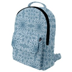 Ornamental Blue Flap Pocket Backpack (small)